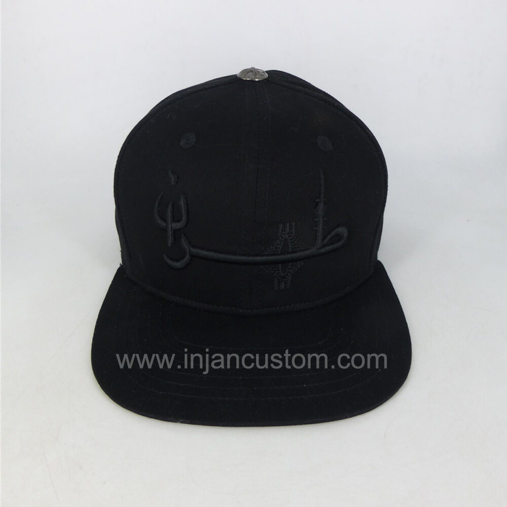68687426d Custom Snapback Caps with Embroidery Logo Flat Brim 6 Panels Style ...